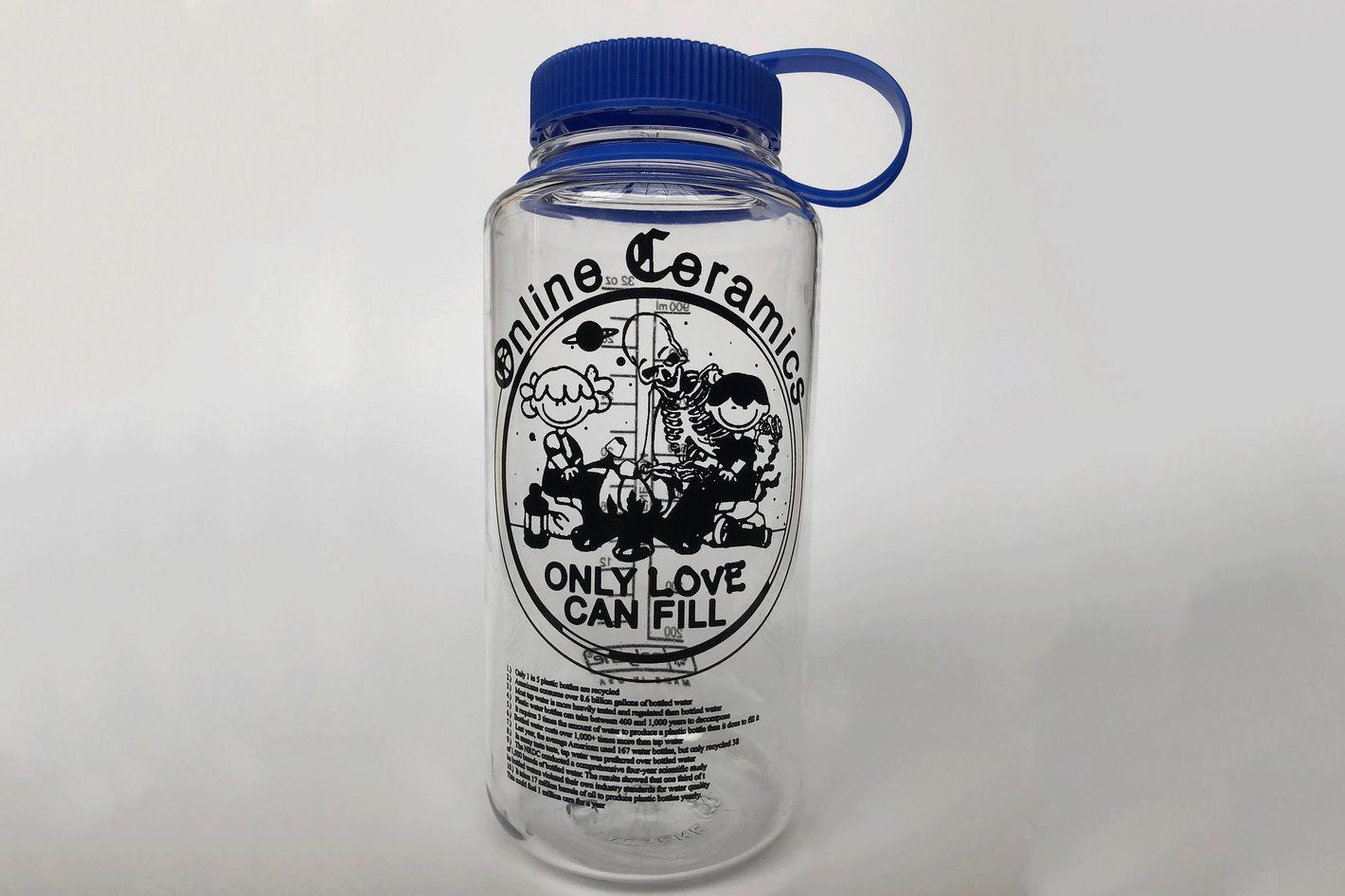 Online Ceramics Clear Water Bottle