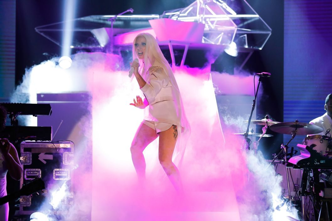 THE TONIGHT SHOW STARRING JIMMY FALLON -- Episode 0002 -- Pictured: Lady Gaga .