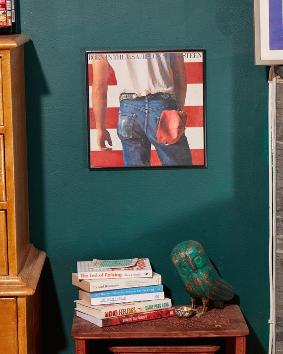 A framed print of Bruce Springsteen's