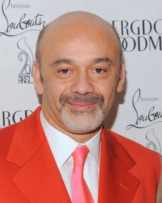 NEW YORK, NY - FEBRUARY 01: Shoe designer Christian Louboutin attends the 20th Anniversary Celebration Of Christian Louboutin at Bergdorf Goodman on February 1, 2012 in New York City. (Photo by Jemal Countess/Getty Images)