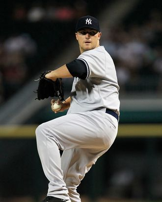 CHICAGO, IL - AUGUST 02: Starting pitcher Phil Hughes #65 of the New York Yankees delivers the ball against the Chicago White Sox at U.S. Cellular Field on August 2, 2011 in Chicago, Illinois. (Photo by Jonathan Daniel/Getty Images)