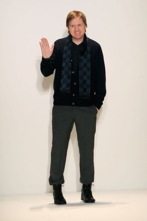 Creative Director, Shaun Kearney on the runway at Cynthia Steffe Fall 2010 fashion show during Mercedes-Benz Fashion Week on February 12, 2010 in New York.