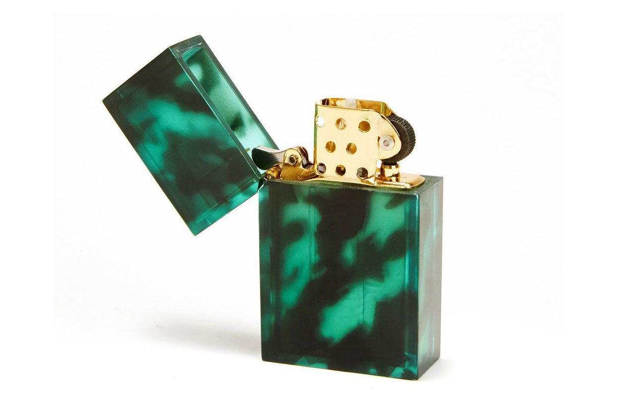 Tsubota Pearl Green Tortoise Lighter