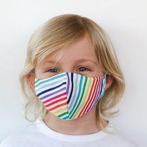 Rainbow Stripes 100 Percent Cotton Children's Face Mask