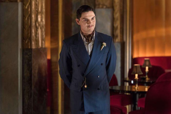 Evan Peters as Mr. March in AHS: Hotel.