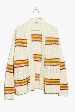 Madewell Striped Diaz Open Cardigan