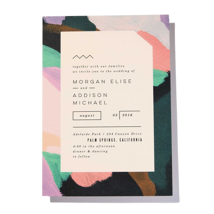 8 Bold, Colorful Wedding Invitations