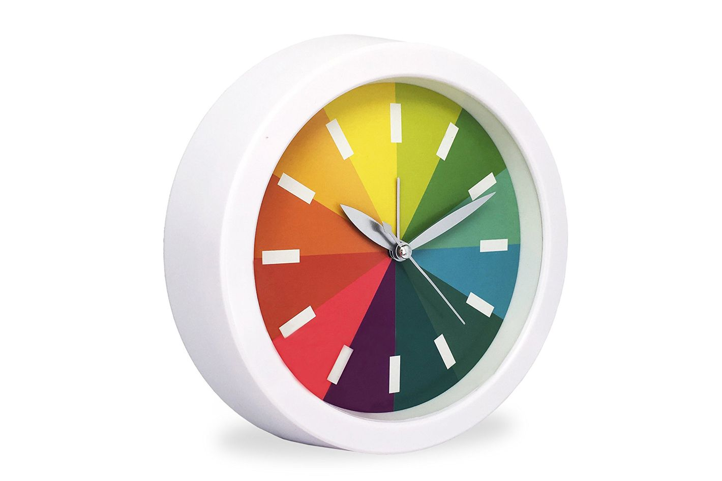 "Slash 6.3"" Modern Creative Round Rainbow Analog Desk Clock"