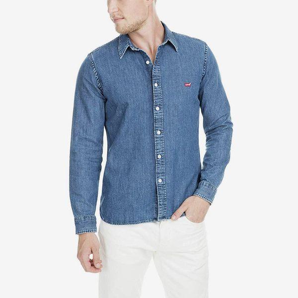 Levi's Men's Battery Denim Shirt, Blue