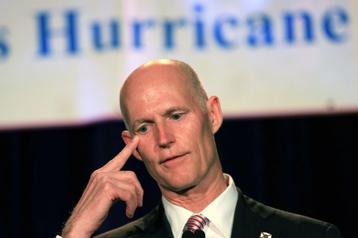 FORT LAUDERDALE, FL - MAY 18: Florida Governor Rick Scott speaks during the Governor's Hurricane Conference General Session at the Broward County Convention Center on May 18, 2011 in Fort Lauderdale, Florida.The conference was established to focus on the challenges caused by hurricanes and tropical events unique to Florida. Hurricane season in the Atlantic begins June 1st and ends November 30th (Photo by Joe Raedle/Getty Images)