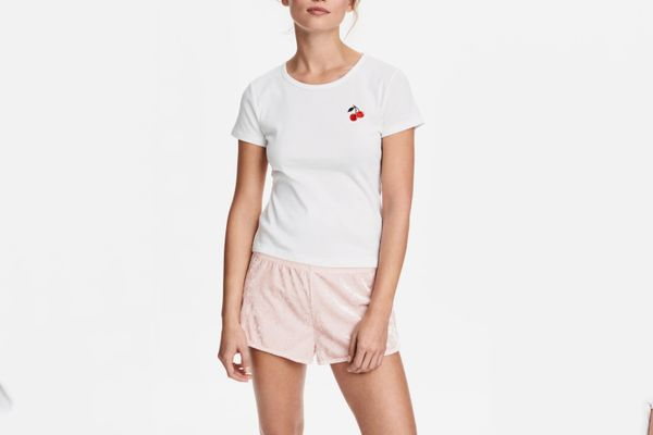 H&M Pajama Top and Shorts
