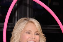 NEW YORK, NY - OCTOBER 05:  Christie Brinkley attends 2012 World Smile Day in Times Square on October 5, 2012 in New York City.  (Photo by Gary Gershoff/WireImage)