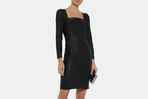 Iris & Ink + Julia Restoin Roitfeld Nicole Gathered Leather Dress