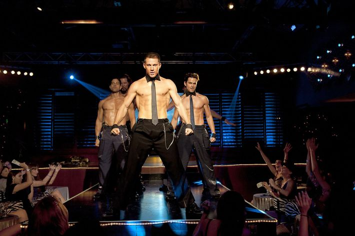 Channing Tatum and his shiny chest in the 2012 film <em>Magic Mike</em>.