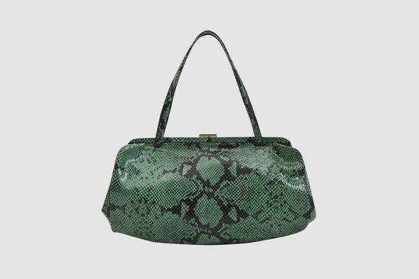Clare V. Yvette Snakeskin Handbag