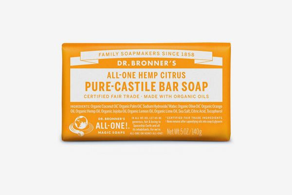 Dr Bronner's All-One Hemp Citrus Pure-Castile Orange Bar Soap