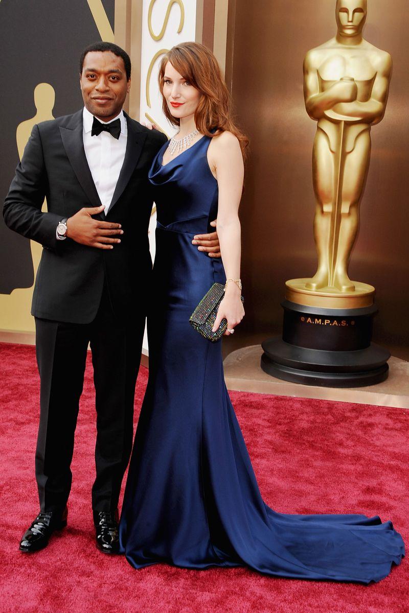 Chiwetel Ejiofor And Sari Mercer Oscars Red Carpet 2014