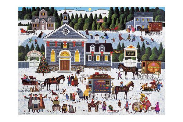 Buffalo Games Churchyard Christmas by Charles Wysocki