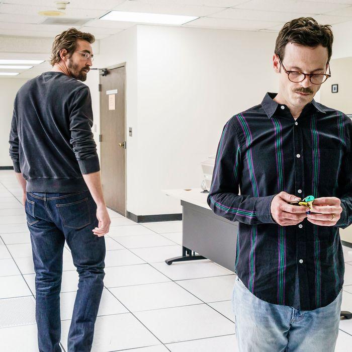 Lee Pace as Joe MacMillan, Scoot McNairy as Gordon Clark- Halt and Catch Fire _ Season 3, Episode 7- Photo Credit: Tina Rowden/AMC