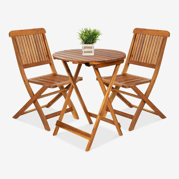 Best Choice Products 3-Piece Acacia Wood Bistro Set