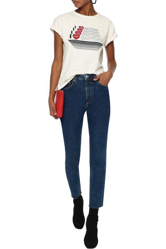 Rag & Bone High-Rise Slim-Leg Jeans