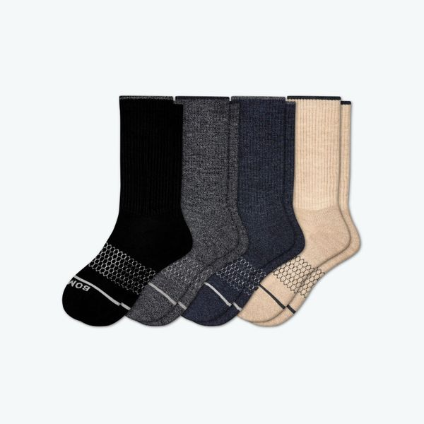 Bombas Men's Merino Wool Calf Sock 4-Pack