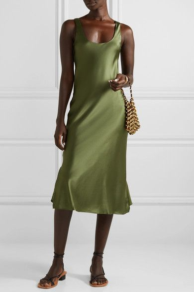 Cami NYC The Evelyn Silk-Blend Charmeuse Midi Dress