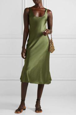 Cami NYC The Evelyn Silk-Blend Charmeuse Midi Dress