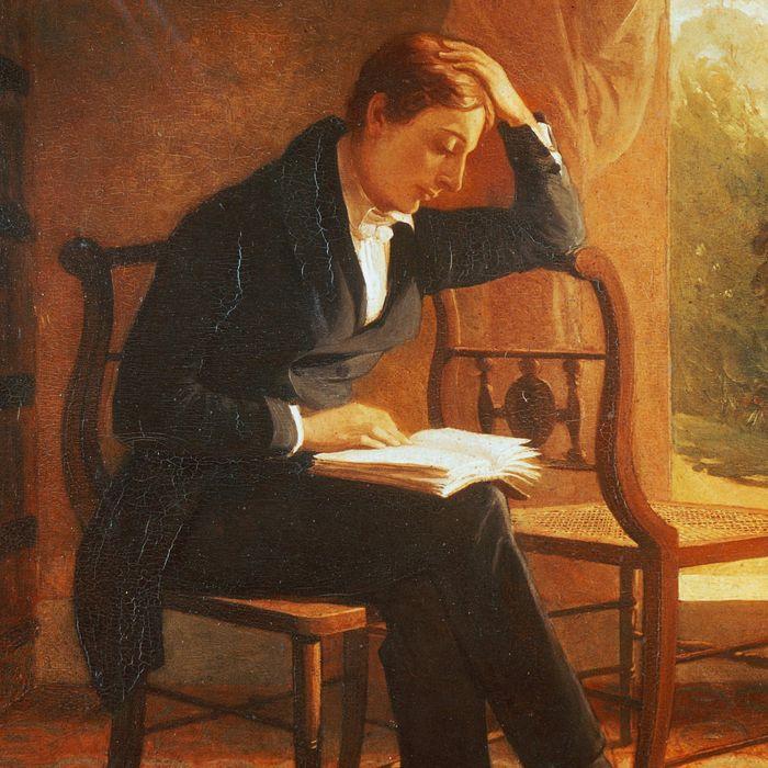 Portrait of John Keats (London, 1795 - Rome, 1821), English poet, Oil on canvas by Joseph Severn (1793-1879), 1821-1823, 56.5 x41.9 cm
