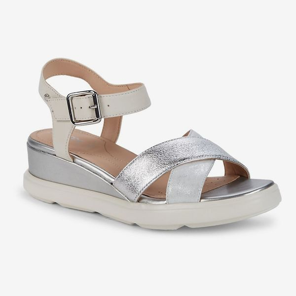 Geox Pisa Leather Sandals