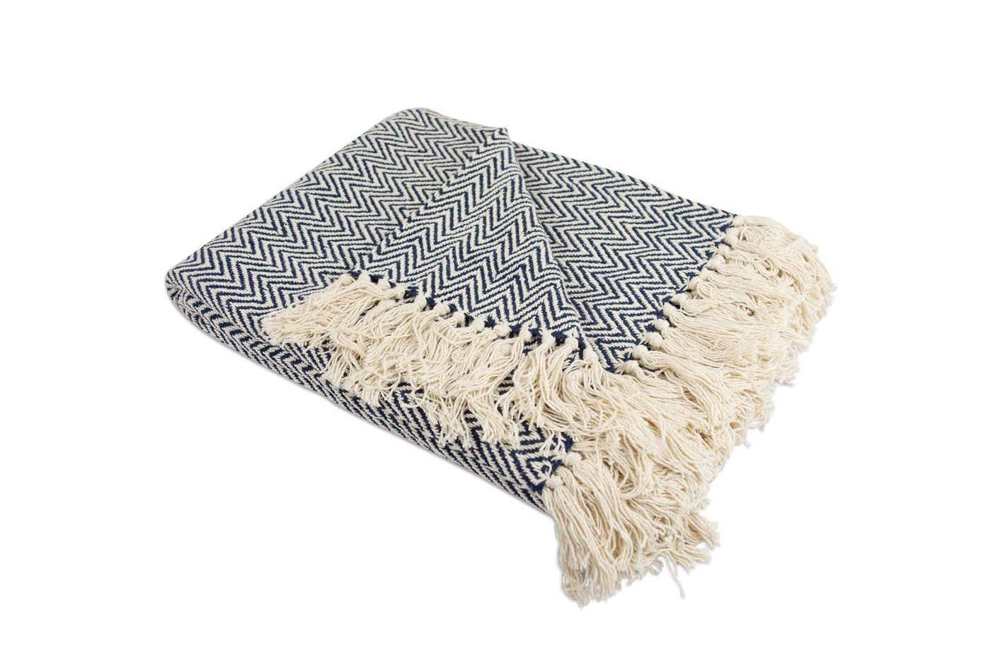 Home Essentials DII 100% Cotton Chevron Herringbone Throw