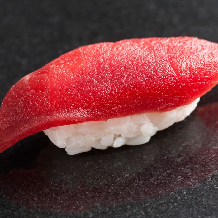 Akami, or lean tuna, at Sushi Nakazawa.