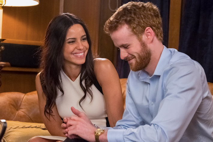 Parisa Fitz-Henley and Murray Fraser in Harry and Meghan: A Royal Romance.