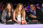 AMERICAN IDOL:  L-R: Steven Tyler, Jennifer Lopez and Randy jackson on AMERICAN IDOL airing Tuesday, Feb. 28 (8:00-10:00 PM ET/PT) on FOX. CR: Michael Becker / FOX.