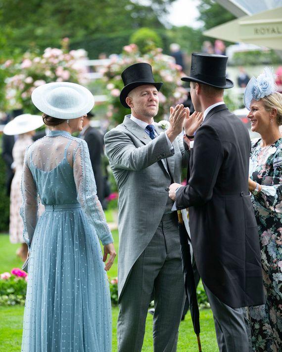Kate Middleton, Mike Tindall, Prince William, and Zara Tindall.