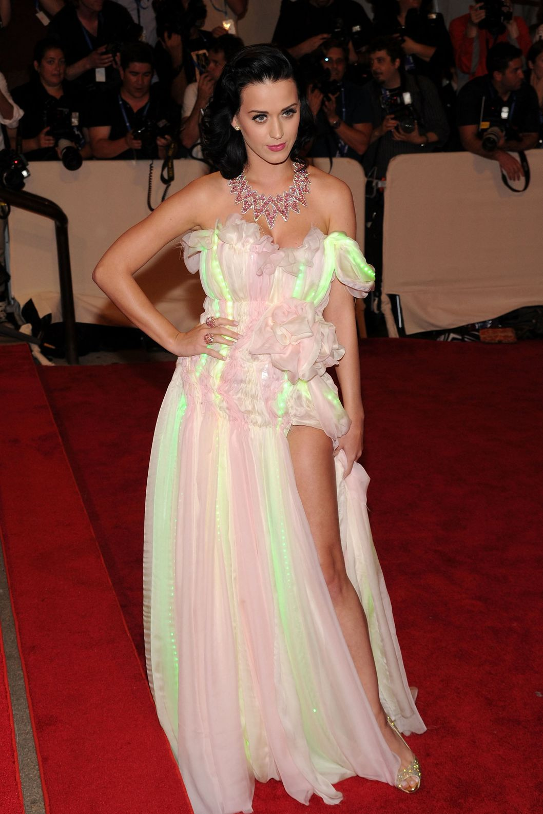 NEW YORK - MAY 03:  Singer Katy Perry attends the Metropolitan Museum of Art's 2010 Costume Institute Ball at The Metropolitan Museum of Art on May 3, 2010 in New York City.  (Photo by Bryan Bedder/WireImage for Vogue)