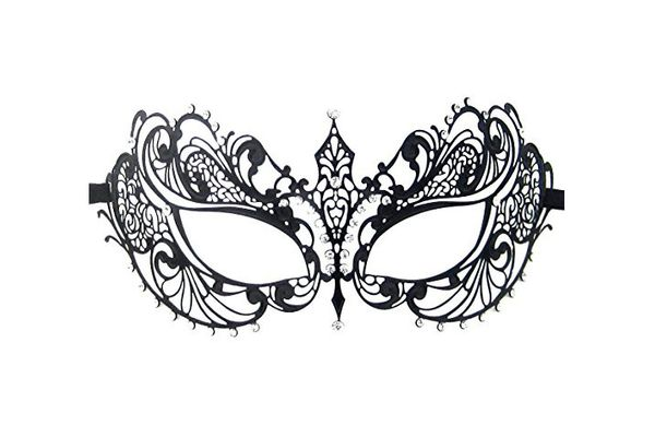 Luxury Mask Women's Laser Cut Metal Venetian Pretty Masquerade Mask