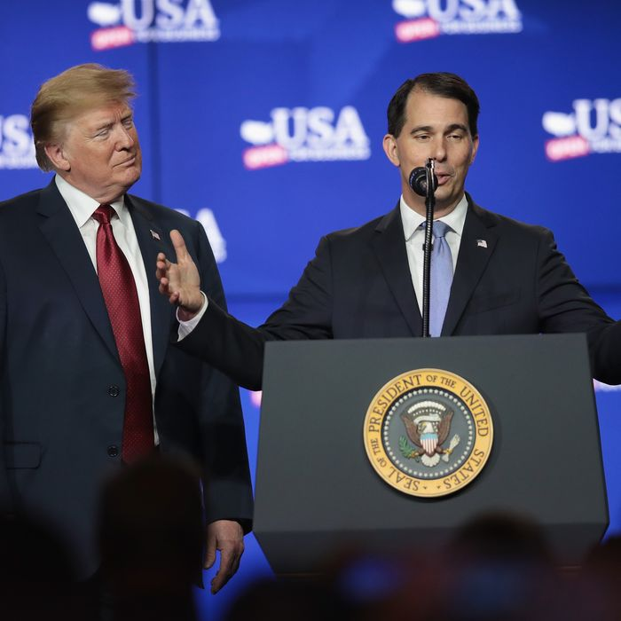 76ebc2553e5 Scott Walker Is Trying to Dodge the Midwest s Backlash Against Trump