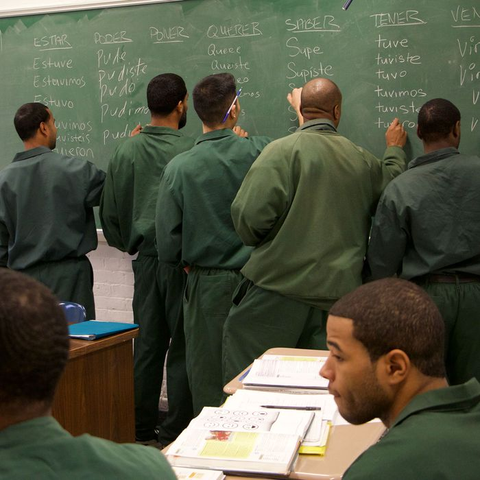 Bard Prison Initiative students in the classroom.