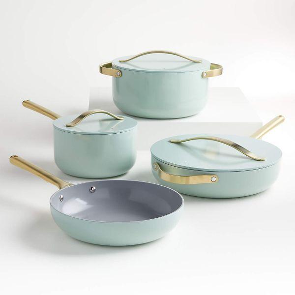 Caraway Home Silt Green 7-Piece Non-Stick Ceramic Cookware Set