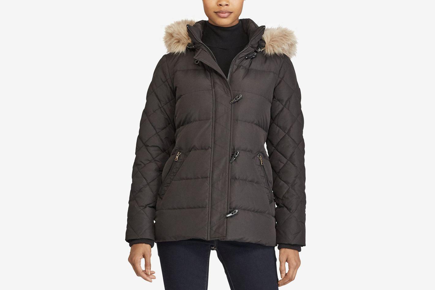 Lauren Ralph Lauren Toggle Puffer Down Coat, Created for Macy's