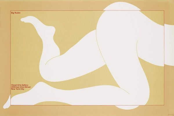 Milton Glaser 'Big Nudes' Poster, 36 Inches by 24 Inches