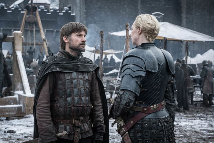 Jaime Lannister and Brienne of Tarth.