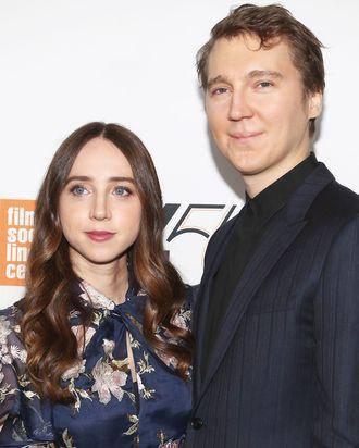 Zoe Kazan and Paul Dano at the New York Film Festival 'Wildlife' premiere.