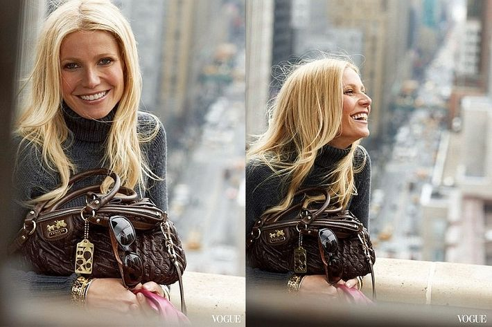 Gwyneth Paltrow, shot by Peter Lindbergh for Coach.