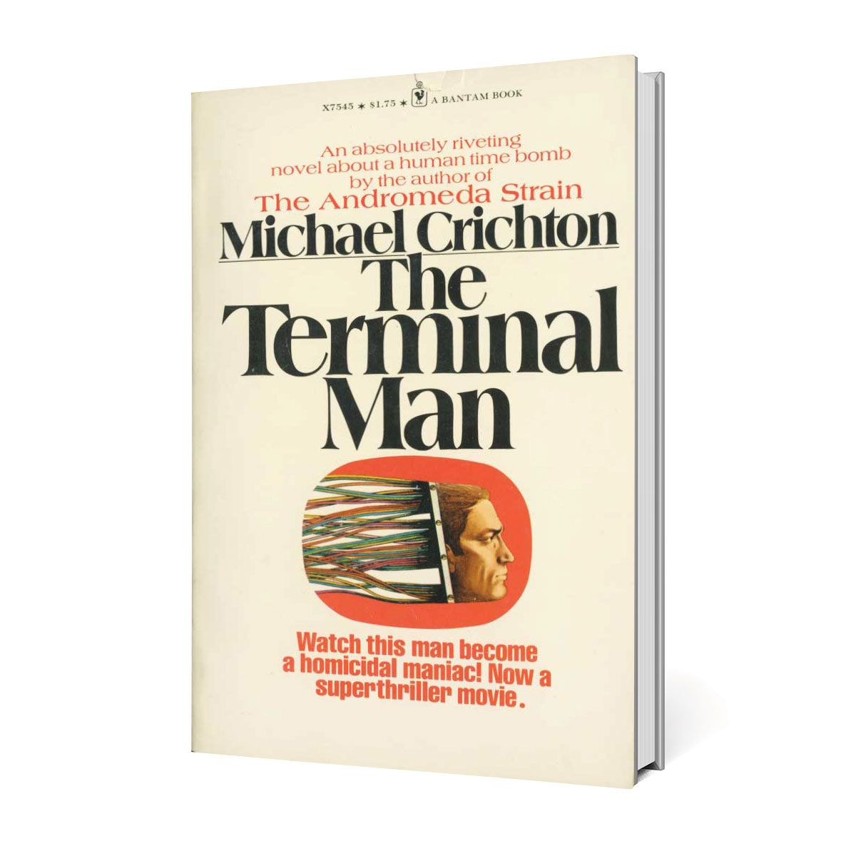 an analysis of the novel the terminal man by michael crichton Final script for the 1973 film, based on the 1972 novel by michael crichton noted director mike hodges' third film, and first to be made in the us after get carter in 1971 and pulp in 1972 segal plays a scientist who agrees to an experimental treatment wherein a tiny computer is implanted in his head to help control violent tendencies.