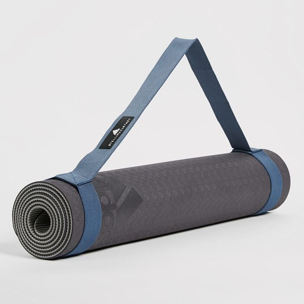 Adidas by Stella McCartney Reversible Training Mat - strategist best black yoga mat with carry strap