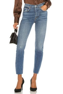 Re/Done High Rise Ankle Crop Jeans
