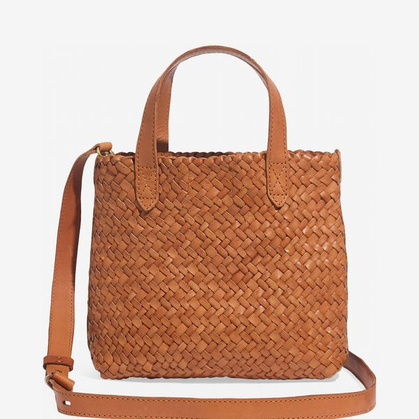 Madewell The Small Transport Crossbody: Woven Leather Edition