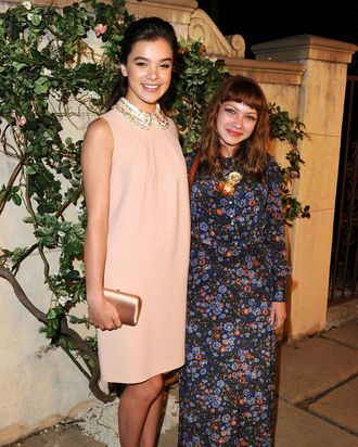 Hailee Steinfeld and Tavi Gevinson at a Miu Miu event in July.